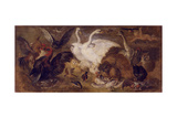 Flying Putto with Birds. Allegory of Air Giclee Print by Jan Brueghel the Younger