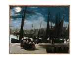 Moonlight Over the Port of Boulogne Giclee Print by Édouard Manet