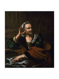Old Woman with Armillary Sphere Giclee Print by Giambattista Langetti