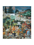 Magi Chapel. Journey of the Magi (the Magi Ride) Giclée-tryk af Benozzo Gozzoli