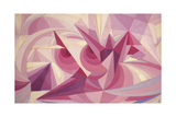 Force Lines of Landscape Amethyst Giclee Print by Giacomo Balla