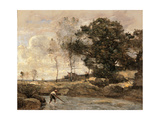Hauling in the Nets Giclee Print by Jean-Baptiste-Camille Corot