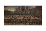 Procession in St Marks Square Giclée-tryk af Gentile Bellini