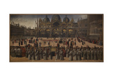 Procession in St Marks Square Giclee Print by Gentile Bellini