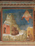 St Francis Receiving the Stigmata Giclee Print by  Giotto