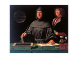 Portrait of the Mathematician Fra Luca Pacioli and His Student Lámina giclée por Jacopo De Barbari