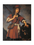 David with the Head of Goliath Lámina giclée por Carlo Dolci
