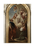 Madonna and Child Appearing to Saints Urbano, Gottardo, Philip and James Minor Giclee Print by Giambattista Piazzetta