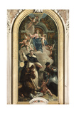 Madonna and Child with Saints Francis of Paola, Dominic and Francis Saverio Giclee Print by Francesco Fontebasso