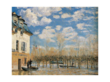 Pedestrian Bridge in Argenteuil Giclee Print by Alfred Sisley