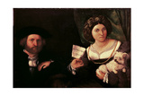 Family Portrait Giclee Print by Lorenzo Lotto