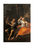 Holy Family (Holy Mary with Sleeping Child and Infant St John) Giclée-tryk af Ludovico Carracci