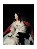Portrait of Sarah Louise Strachan Ruffo of Motta and Bagnara Giclee Print by Hayez Francesco