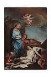 Mary and the Dead Christ Giclée-tryk af Antonio Balestra