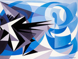 Pessimism and Optimism Giclée-trykk av Giacomo Balla