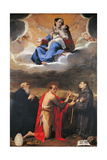 Madonna and Child with Sts Benedict Giclee Print by Bartolomeo Cesi