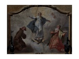 Immaculate Conception with Saints Francis and Lucy Giclee Print by Francesco Fontebasso