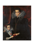 Portrait of a Noblewoman with a Young Girl Giclee Print by Lavinia Fontana