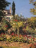Garden at Sainte Adresse Giclee Print by Claude Monet