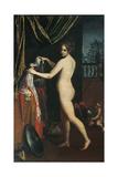 Minerva Dressing Giclée-tryk af Lavinia Fontana