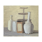 Jars and Bottles Giclee Print by Morandi Giorgio