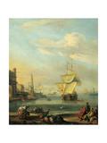 Mediterranean Harbour Giclee Print by Abraham Storck