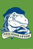 Philosoraptor Snorg Tees Plastic Sign Plastic Sign