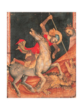 St George's Battle with the Dragon Giclee Print by Vitale da Bologna