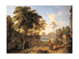 Landscape with Figures Giclee Print by Andrea Locatelli