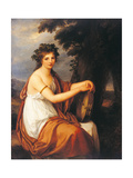 Portrait of a Young Girl As a Bacchante (Bacchante) Lámina giclée por Angelica Kauffmann