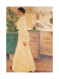 Open Air Portrait Giclee Print by Giacomo Balla