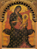 Madonna with Child Enthroned Giclée-tryk af Paolo Veneziano