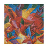 Plastic Forms of a Horse Giclee Print by Boccioni Umberto