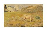 Spring Pasture Giclee Print by Giovanni Segantini