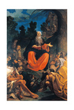 St Anthony Abbot Preaching To the Hermits Giclée-tryk af Ludovico Carracci