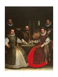 Portrait of the Gozzadini Family Giclée-tryk af Lavinia Fontana