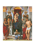Madonna and Child with Sts John the Baptist Giclee Print by  Monica