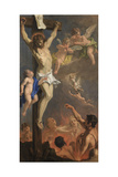 Christ Crucified and the Souls in Purgatory Giclée-tryk af Sebastiano Ricci