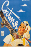 Poster Advertising Cortina DAmpezzo Giclee Print by Franz Lenhart