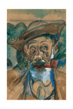 Man with a Pipe Giclee Print by Boccioni Umberto