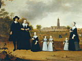 Family in a Landscape in Rhenen Giclee Print by Cornelis Willaerts