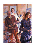 Four in the Mirror Giclee Print by Giacomo Balla