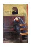 Polyptych of the Living the Beggar Giclee Print by Giacomo Balla