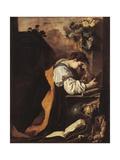 Melancholy Or Meditation Giclée-tryk af Domenico Fetti