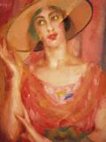 Portrait of Luce Balla Gicléetryck av Giacomo Balla