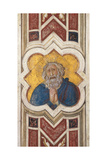 Prophet, detail of Friezes Posters by Pietro Lorenzetti