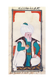 Sultan Baiasit. Drawing of Indian subject commissioned by Niccolao Manucci 18th c. Art Print