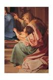 Madonna & Child, Sts. Joseph, Zechariah, Elizabeth & young John Posters af Pompeo Batoni