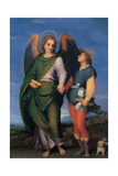 Archangel Raphael with Tobias Print by  Andrea del Sarto