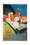 Travel Poster for the Italian Dolomites Poster by Franz Lenhart